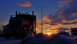 Truck in Sunrise