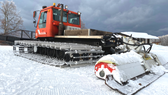 To show a well maintained heavy equipment during the winter